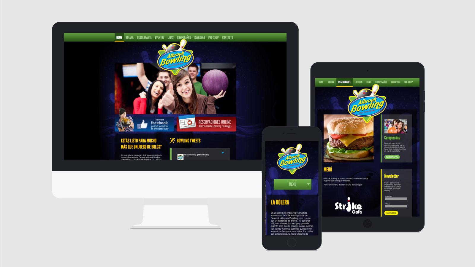 Albrook Bowling web responsive