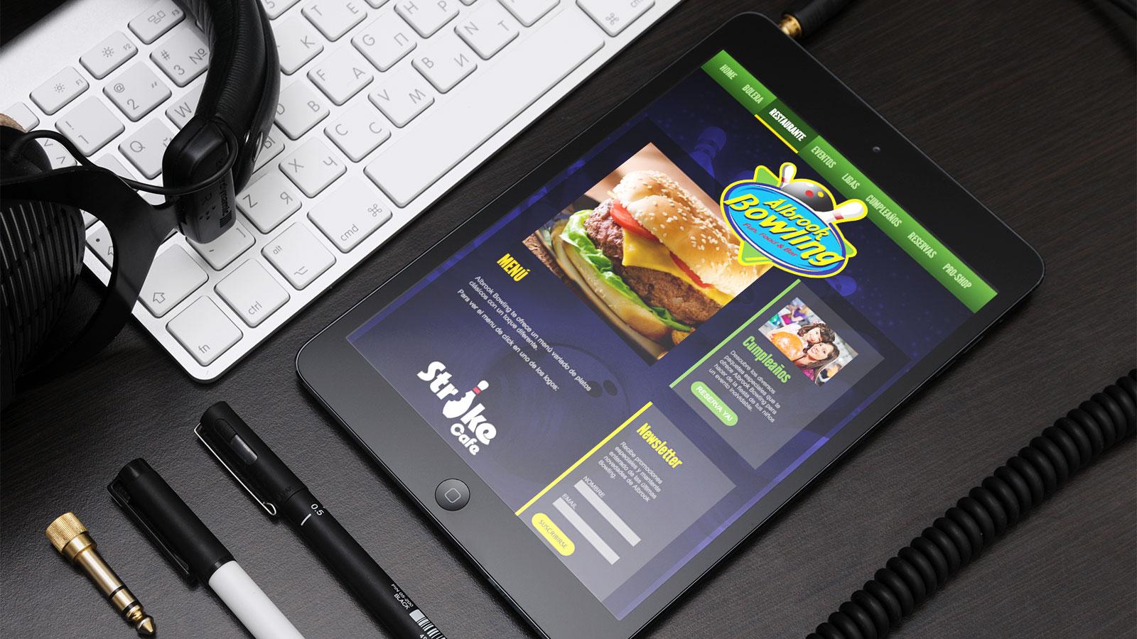 Albrook Bowling web tablet