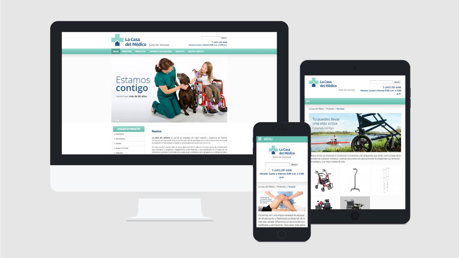 casa del medico web responsive