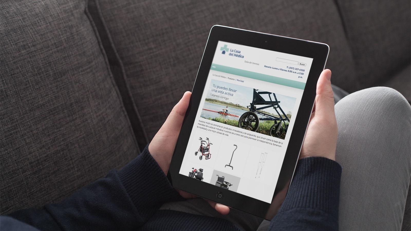 casa del medico web tablet