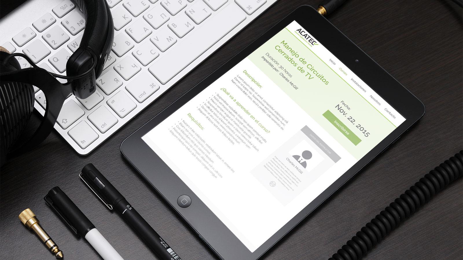ACATEC Advanced Capacitaciones Técnicas web tablet
