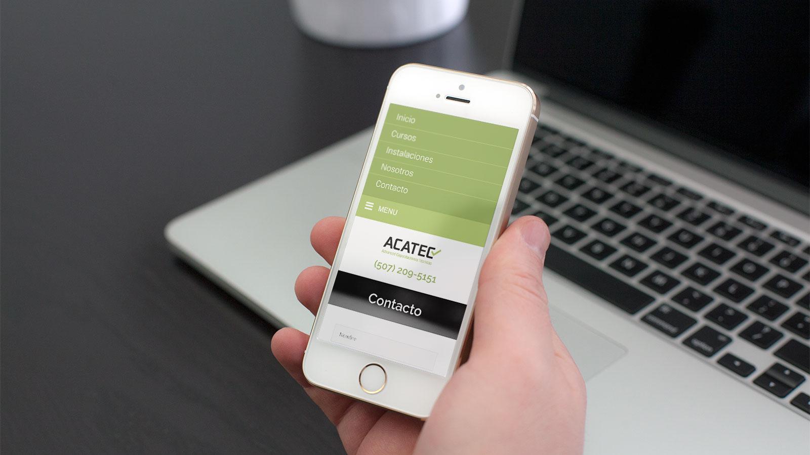 ACATEC Advanced Capacitaciones Técnicas web movil