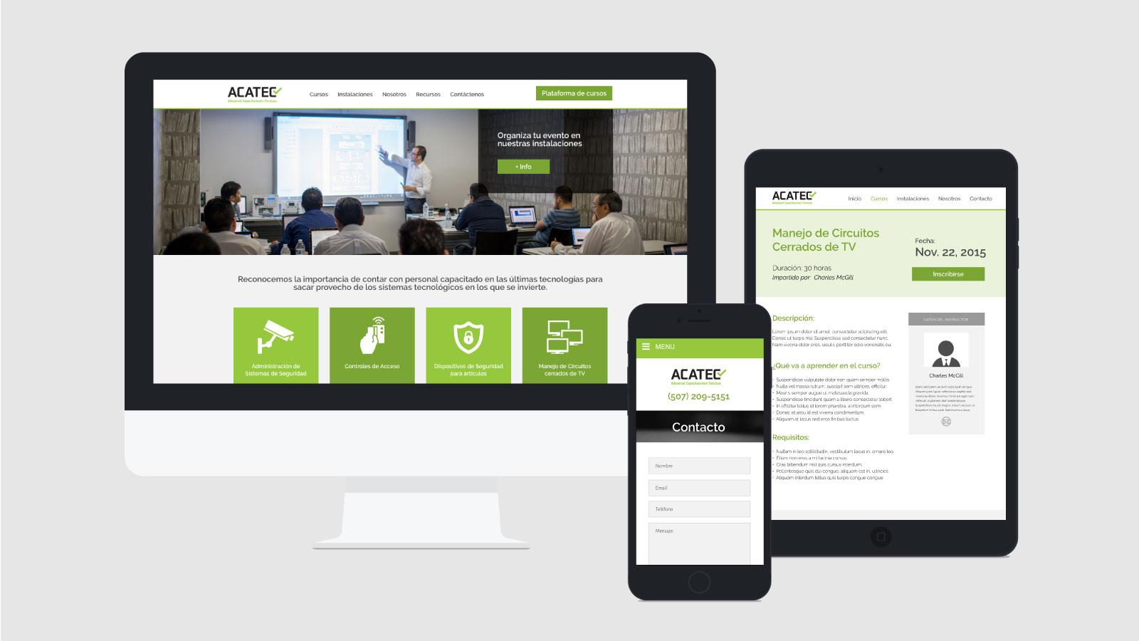 ACATEC Advanced Capacitaciones Técnicas web responsive