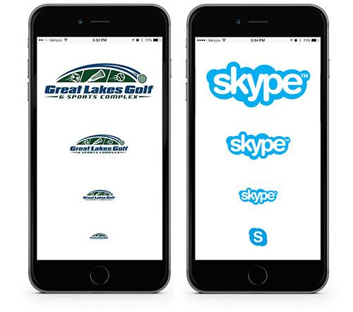 "diseño de logos ""responsive"" skype"