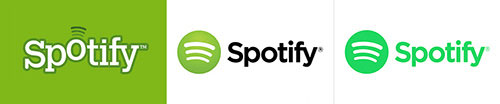 """diseño de logos """"responsive"""" spotify"""