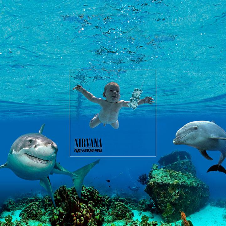 Diseño de covers de albumes famosos - Nirvana